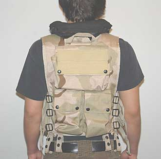 AR-15 tactical vest with flotation collar