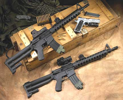 AR-15s and 1911