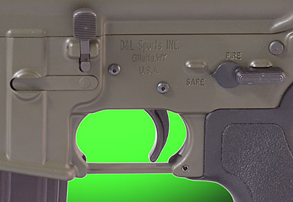AR-15 antiwalk trigger pins and safety/selector switch
