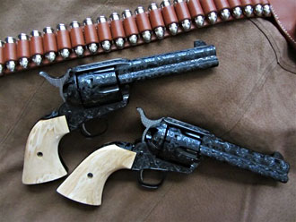 Sixguns from John Waynes movie The Shootist