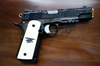 US Navy 1911 with ivory grips