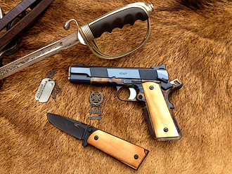 Western 1911, knife and saber