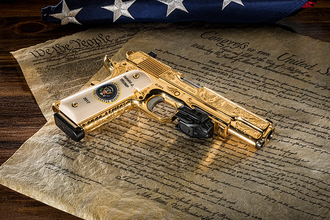 President Donald Trump pistol by D&L Sports